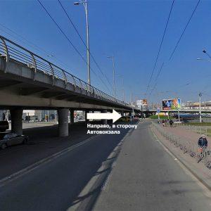 Поворот от метро Демеевская