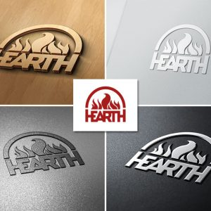 """Логотип для отопительных систем """"Hearth"""""""